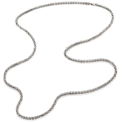 chain large necklace lobster curb clasp sterling silver with products