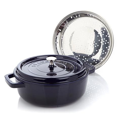 Staub 3.5qt Steamer and 4qt Shallow Cocotte