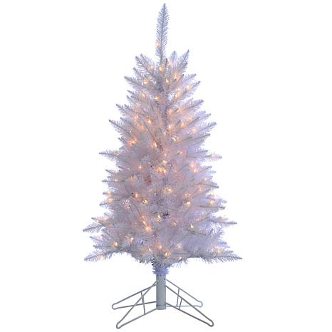 Tinsel Christmas Tree.Sterling 4 White Tiffany Tinsel Lighted Christmas Tree
