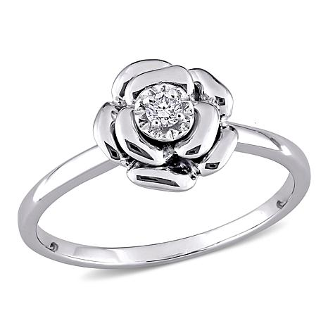 Details about  /925 Sterling Silver and Enamel Flower Split Shank Ring