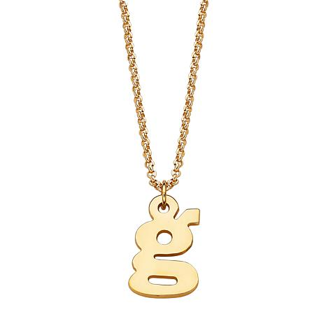 Sterling Silver Lowercase Initial Pendant with Chain