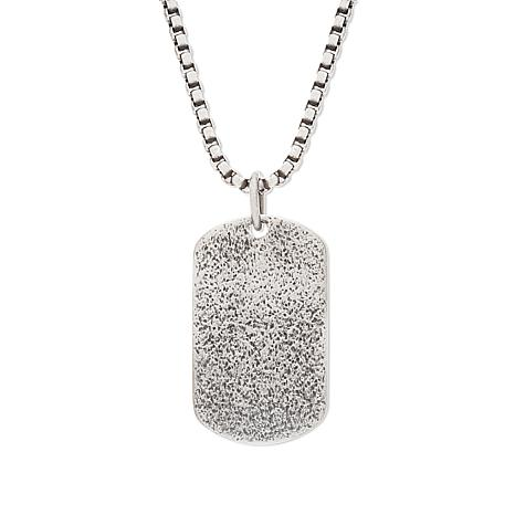Steve Madden Textured Dog Tag Pendant