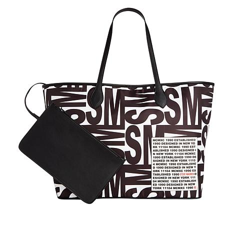 Steven by Steve Madden Lindy Logo Tote with Detachable Pouch