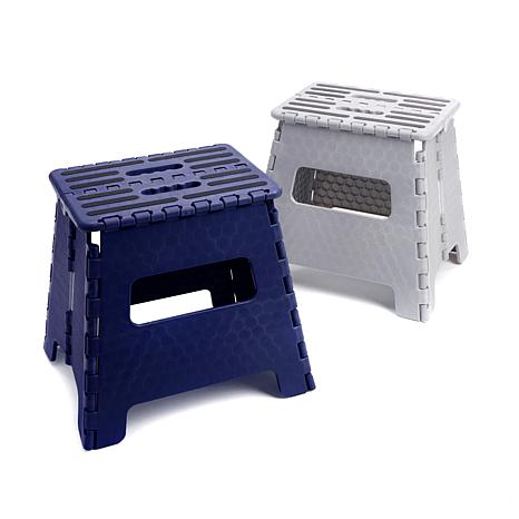 StoreSmith 2-pack Folding Step Stools - Extra Wide