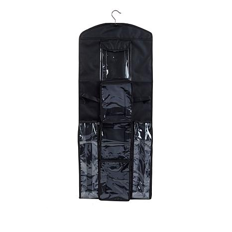 StoreSmith Hanging Gift Wrap Organizer with Zipper Pockets