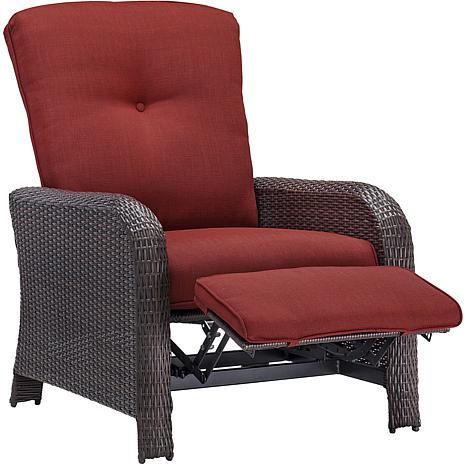 ... Strathmere Outdoor Reclining Arm Chair - Crimson Red ...  sc 1 st  HSN.com & Strathmere Outdoor Reclining Arm Chair - Crimson Red - 7769514 | HSN islam-shia.org