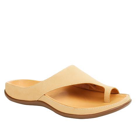 Strive Capri Leather Toe-Loop Orthotic Sandal