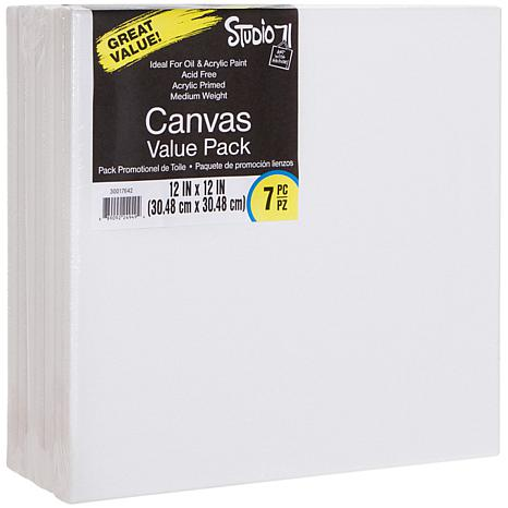 """Studio 71 Stretched Canvas 7-pack  - 12"""" x 12"""""""