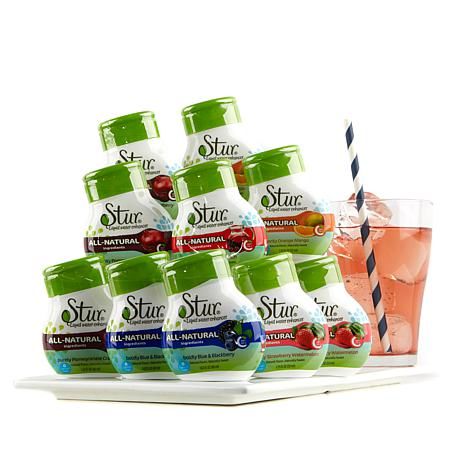 Stur All-Natural Water Enhancer Variety 10-pack