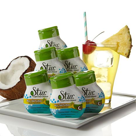 Stur Water Enhancer 6pk - Coconut Water and Pineapple