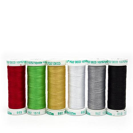 Sulky 40wt Poly Deco Thread 6-pack