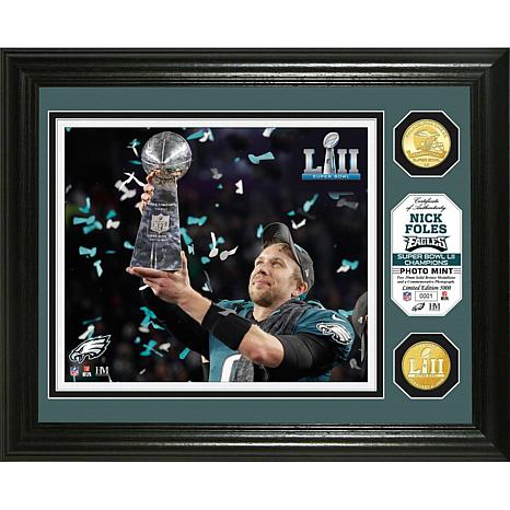 1b846e76c Super Bowl LII Champs Nick Foles Trophy Bronze Coin Photo Mint -Eagles -  8653668