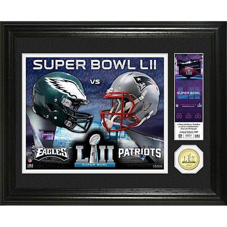 Super Bowl LII Dueling Bronze Coin Photo Mint by The Highland Mint