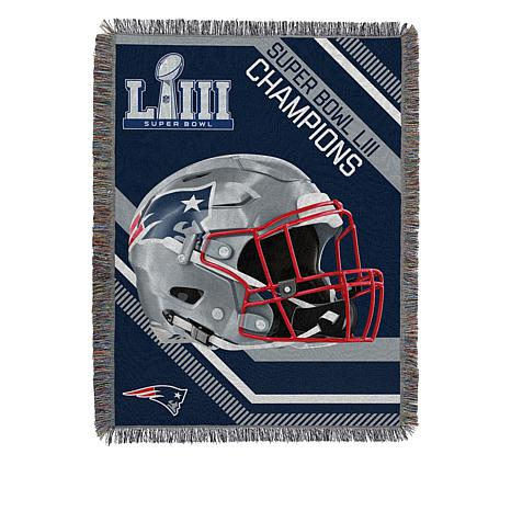 "Super Bowl LIII Champions 48"" x 60"" Fringed Tapestry Throw"