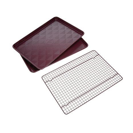 Symon Home Sheet Pans with Cooling Rack 3-piece Set