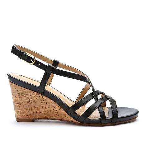 d9a664d4980d Tahari Future Leather or Suede Strappy Wedge Sandal - 8729244
