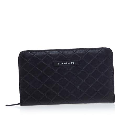 Tahari Quilted Jewelry Travel Wallet - Black