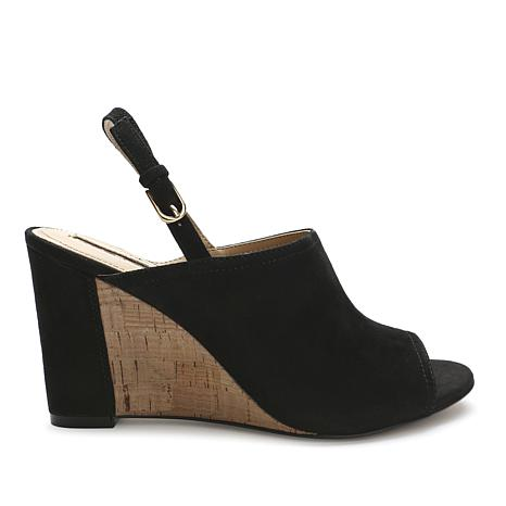 Tahari Vandar Leather or Suede Wedge Sandal