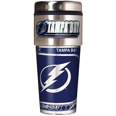 Tampa Bay Lightning Travel Tumbler w/ Metallic Graphics and Team Logo