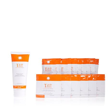 TanTowel® 18-piece Classic Kit with On The Glow Daily Body Moisturizer