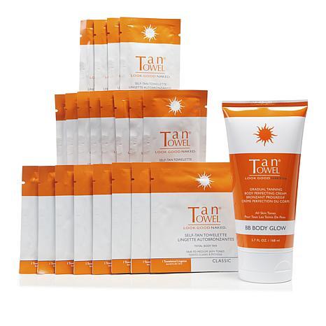 TanTowel® Classic 20pc Kit w/Body Glow Self-Tanning Cream Auto-Ship®