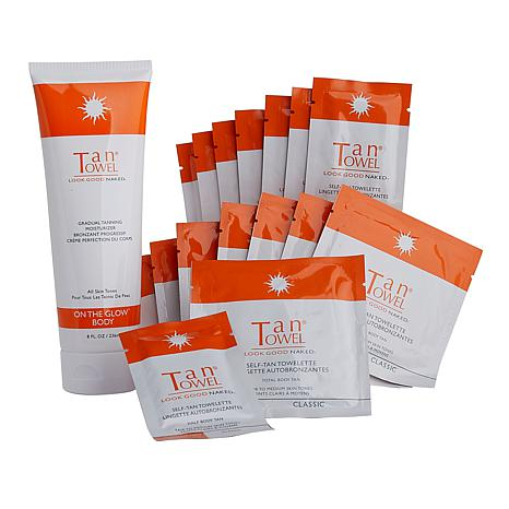 TanTowel® Classic Self Tanning Kit with On the Glow Body Moisturizer