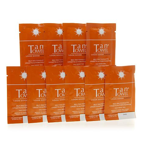 TanTowel® Half Body Dark Self Tan Towelette 10-pack