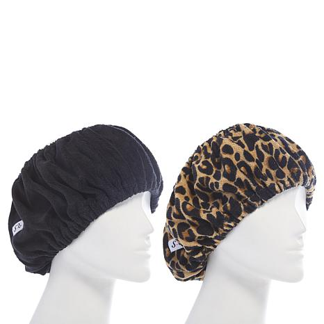 Tassi Hair Holder Duo - Black/Leopard