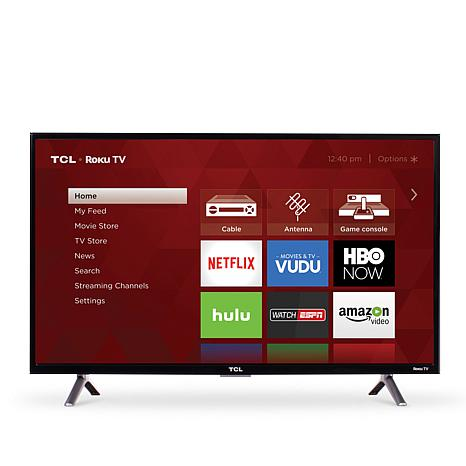 """TCL 3-Series 32"""" Smart HDTV with Built-In Roku and 2-Year Warranty"""