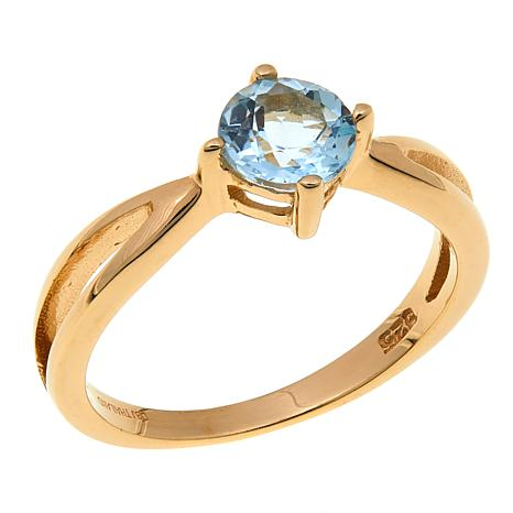 Technibond® 0.95ctw Sky Blue Topaz Birthstone Ring