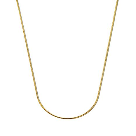 "Technibond® 1.15mm 24"" Adjustable Snake Chain Necklace"