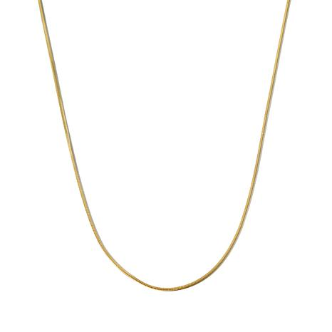 "Technibond® 18"" Square Snake Chain 1mm Necklace"