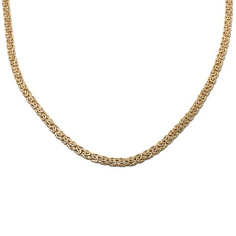 "Technibond® Adjustable Byzantine-Link 24"" Necklace"