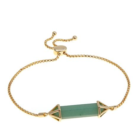 Technibond® Aventurine Prism Adjustable Bracelet