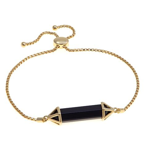 Technibond® Black Agate Prism Adjustable Bracelet