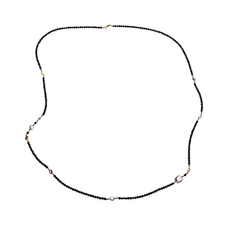 "Technibond® Black Spinel and Multigemstone 36"" Necklace"