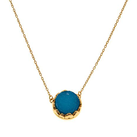 "Technibond® Blue Drusy 18"" Necklace"