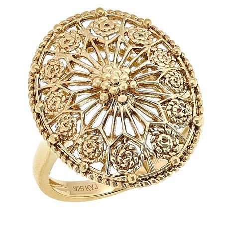 Technibond® Filigree Oval Ring