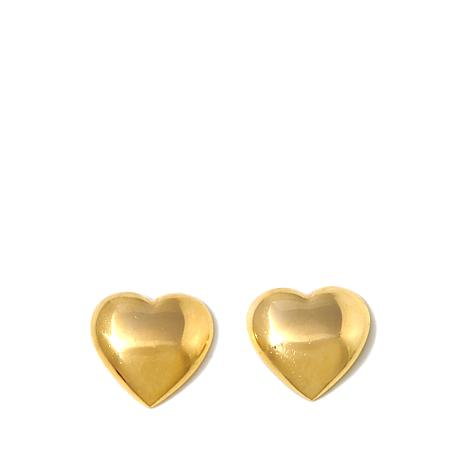 Technibond Heart Shaped Stud Earrings