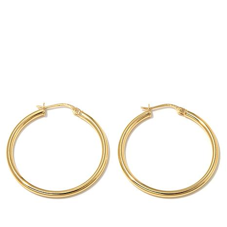 Technibond® Polished Hoop Earrings