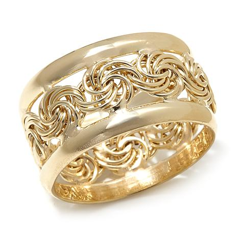 "Technibond® ""Rosette"" Eternity Band Ring"