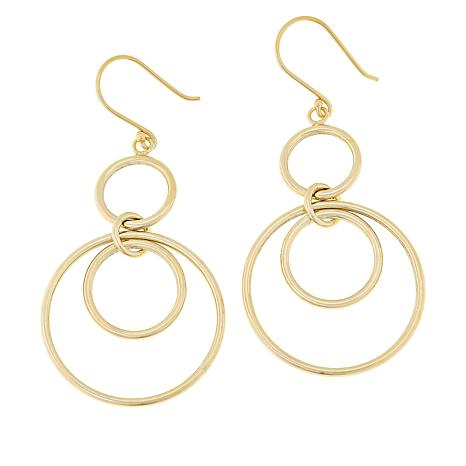 Technibond® Round Double Drop Earrings