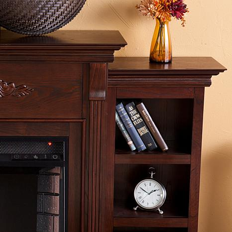... Tennyson Electric Fireplace with Bookcases - Espresso - Tennyson Electric Fireplace With Bookcases - Espresso - 7630124 HSN