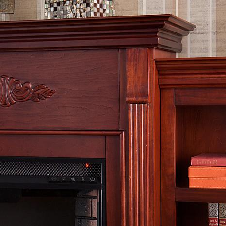 ... Tennyson Electric Fireplace with Bookcases - Mahogany - Tennyson Electric Fireplace With Bookcases - Classic Mahogany