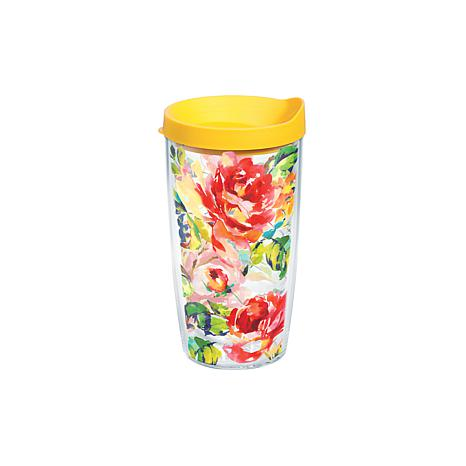 Tervis Fiesta Rose Pattern 16 oz. Tumbler with Lid