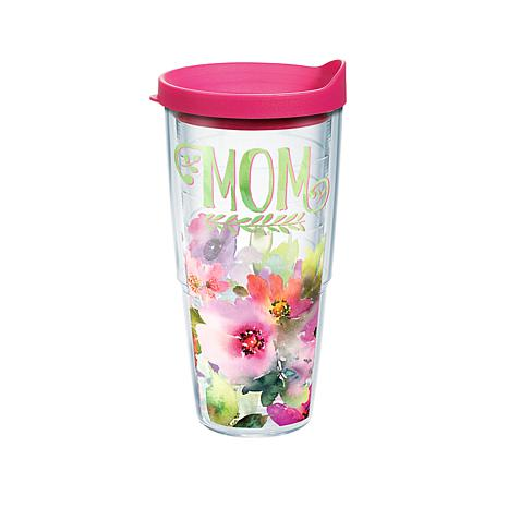 Tervis Mom Watercolor Floral 24 oz Tumbler with lid