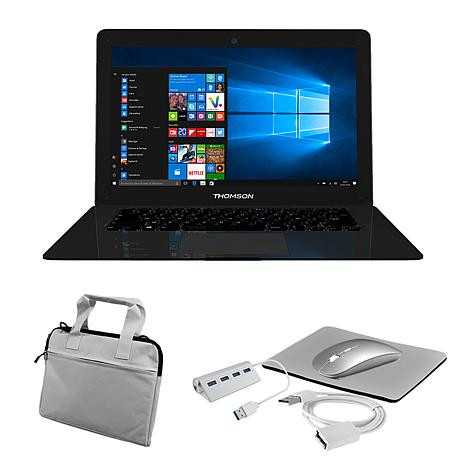 """Thomson Neo 14.1"""" Intel Celeron Notebook w/Carry Case and Accessories"""