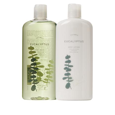 Thymes Eucalyptus Body Wash and Body Lotion Duo