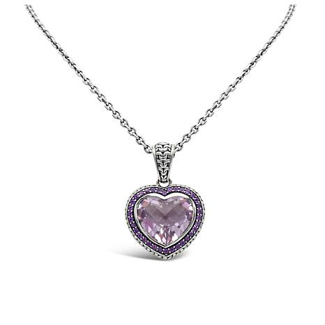 Tiffany Kay Studio Amethyst Purl Knit Heart Pendant with Chain