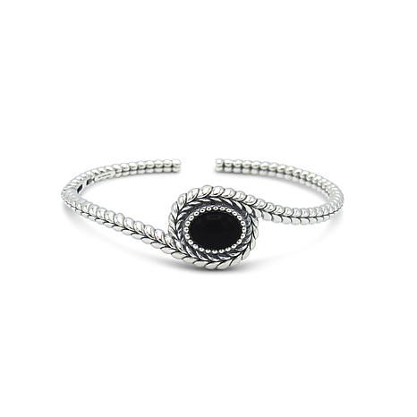 Tiffany Kay Studio Sterling Silver Black Onyx Cuff Bracelet